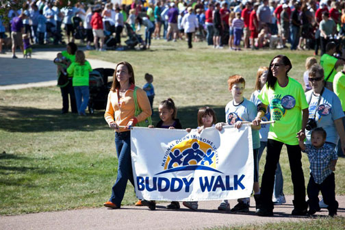 Rachel at a Down Syndrome Buddy Walk